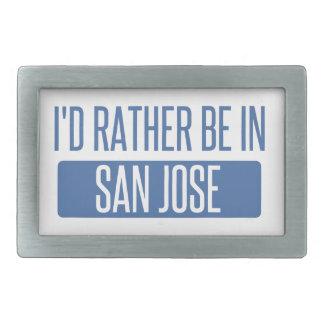 I'd rather be in San Jose Belt Buckles