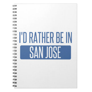 I'd rather be in San Jose Notebooks