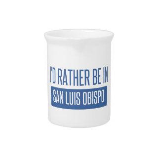 I'd rather be in San Luis Obispo Beverage Pitchers