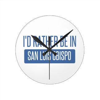 I'd rather be in San Luis Obispo Wallclock
