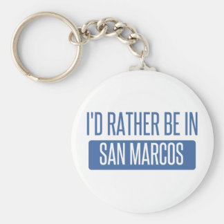 I'd rather be in San Marcos CA Basic Round Button Key Ring