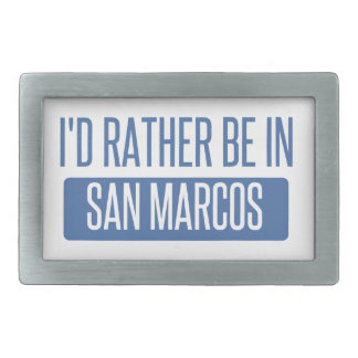 I'd rather be in San Marcos CA Belt Buckle