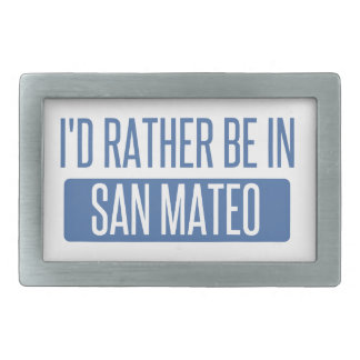 I'd rather be in San Mateo Rectangular Belt Buckle