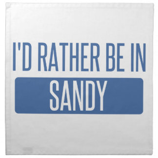 I'd rather be in Sandy Springs Napkin