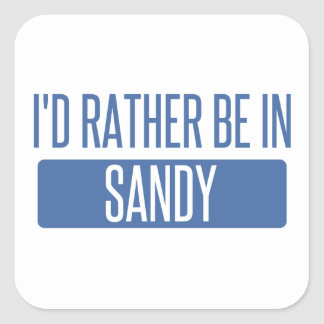 I'd rather be in Sandy Springs Square Sticker