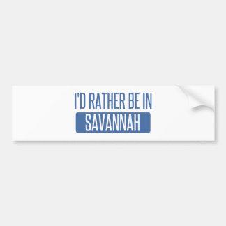 I'd rather be in Savannah Bumper Sticker