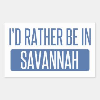 I'd rather be in Savannah Rectangular Sticker