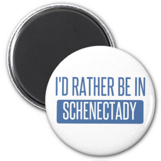 I'd rather be in Schenectady 6 Cm Round Magnet