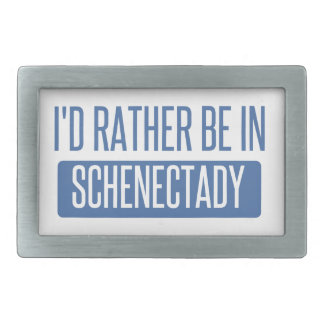 I'd rather be in Schenectady Belt Buckle