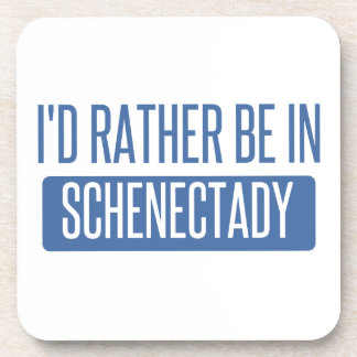I'd rather be in Schenectady Beverage Coaster