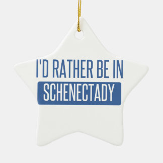 I'd rather be in Schenectady Ceramic Star Decoration