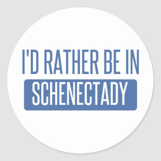 I'd rather be in Schenectady Classic Round Sticker