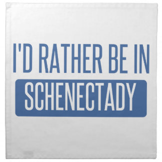 I'd rather be in Schenectady Cloth Napkins