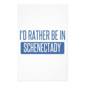 I'd rather be in Schenectady Customized Stationery