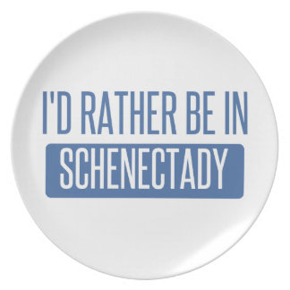 I'd rather be in Schenectady Dinner Plates