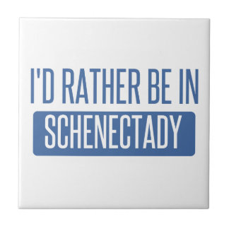 I'd rather be in Schenectady Small Square Tile