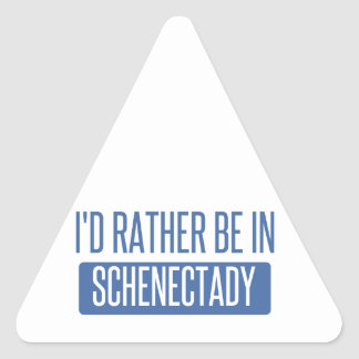 I'd rather be in Schenectady Triangle Sticker