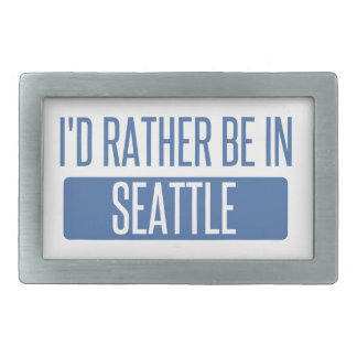 I'd rather be in Seattle Belt Buckles