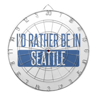 I'd rather be in Seattle Dartboard