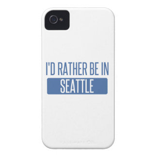 I'd rather be in Seattle iPhone 4 Case-Mate Cases