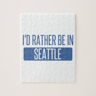 I'd rather be in Seattle Jigsaw Puzzle