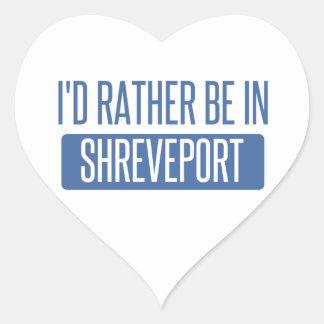 I'd rather be in Shreveport Heart Sticker