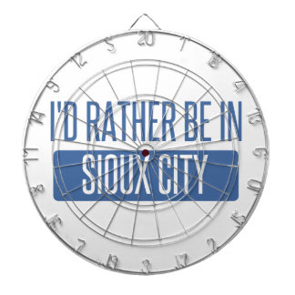 I'd rather be in Sioux City Dartboard