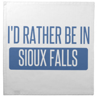 I'd rather be in Sioux Falls Napkin