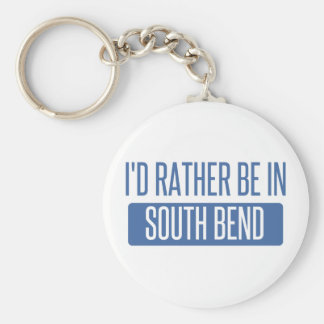 I'd rather be in South Bend Basic Round Button Key Ring