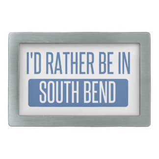 I'd rather be in South Bend Rectangular Belt Buckle