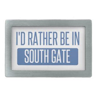 I'd rather be in South Gate Rectangular Belt Buckles