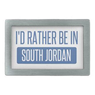 I'd rather be in South Jordan Rectangular Belt Buckle