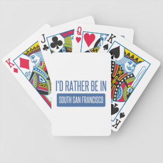 I'd rather be in South San Francisco Bicycle Playing Cards