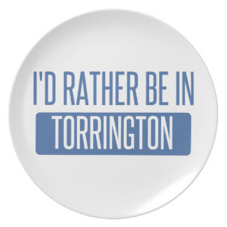 I'd rather be in Torrington Plate