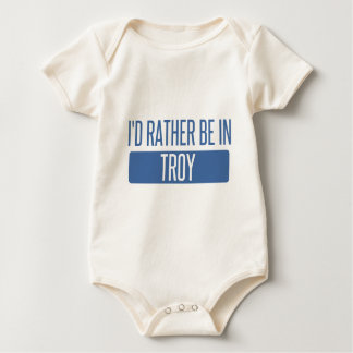 I'd rather be in Troy MI Baby Bodysuit