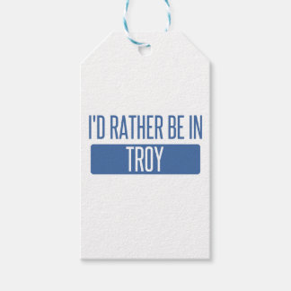 I'd rather be in Troy NY Gift Tags