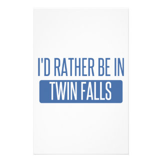 I'd rather be in Twin Falls Stationery