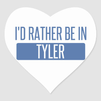 I'd rather be in Tyler Heart Sticker