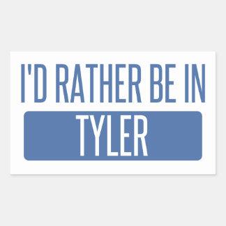 I'd rather be in Tyler Rectangular Sticker