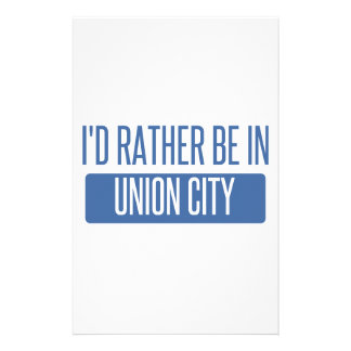 I'd rather be in Union City NJ Stationery