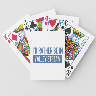 I'd rather be in Valley Stream Bicycle Playing Cards