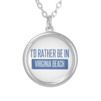 I'd rather be in Virginia Beach Silver Plated Necklace