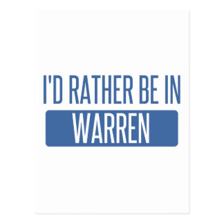 I'd rather be in Warren MI Postcard