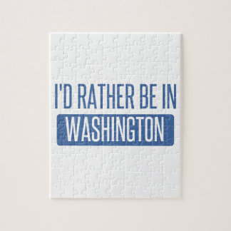 I'd rather be in Washington Jigsaw Puzzle