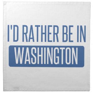 I'd rather be in Washington Napkin