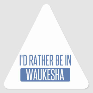 I'd rather be in Waukesha Triangle Sticker