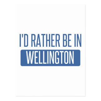 I'd rather be in Wellington Postcard
