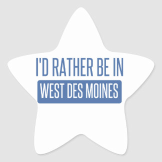 I'd rather be in West Des Moines Star Sticker