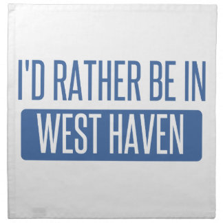I'd rather be in West Haven Napkin