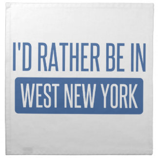 I'd rather be in West New York Napkin